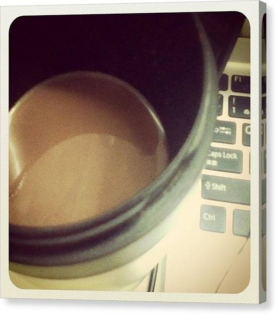 Keyboards Canvas Print - The Van Houten Hot Chocolate From Bak by Miori Bando