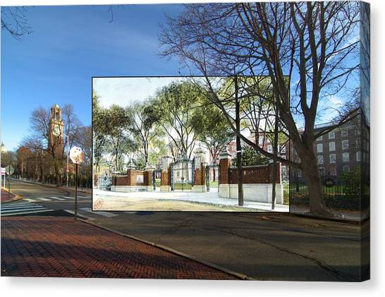 Brown University Canvas Print - The Van Wickle Gates At Brown University In Providence Rhode Island by Jeff Hayden
