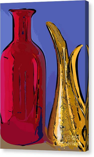 The Vase And Pitcher Canvas Print