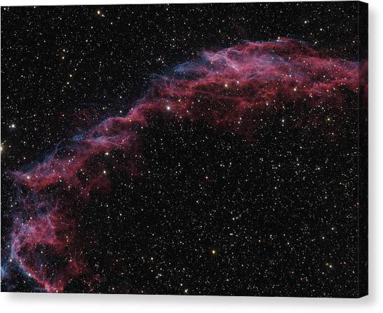 The Veil Nebula Canvas Print by Brian Peterson