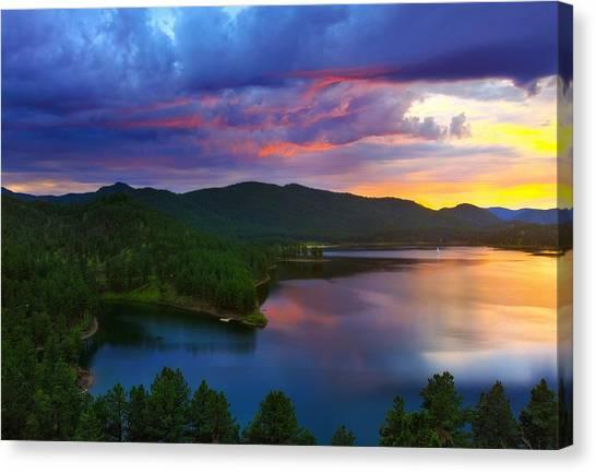 The Vibrant Storm Canvas Print