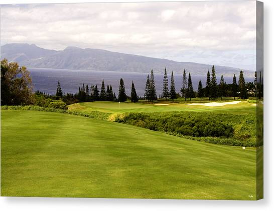 Golf Course Canvas Print - The View by Scott Pellegrin