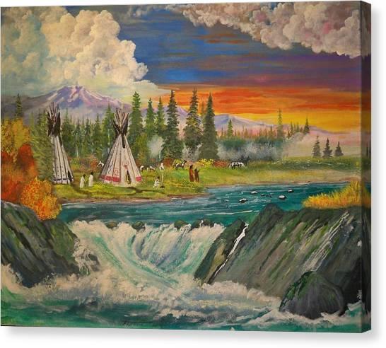 The Village II Canvas Print