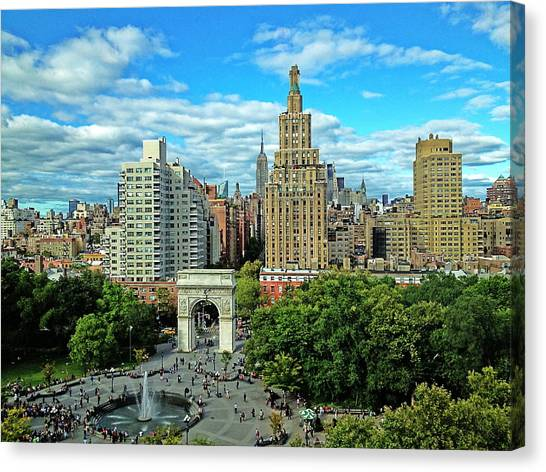 New York University Canvas Print - The Village by Yen Hsiang Liang