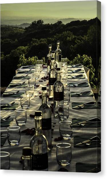 The Vintner's Table Canvas Print