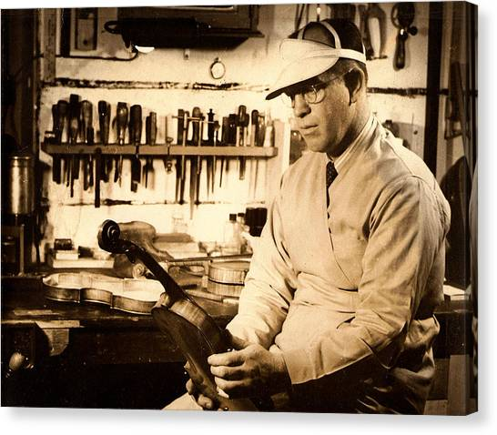 The Violin Maker Canvas Print