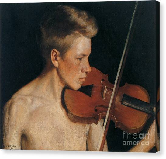 Violins Canvas Print - The Violinist by Celestial Images