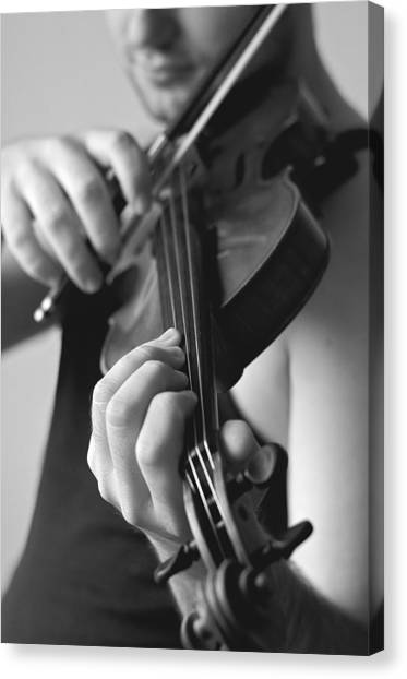 Music Canvas Print - The Violonist by Urte Berteskaite