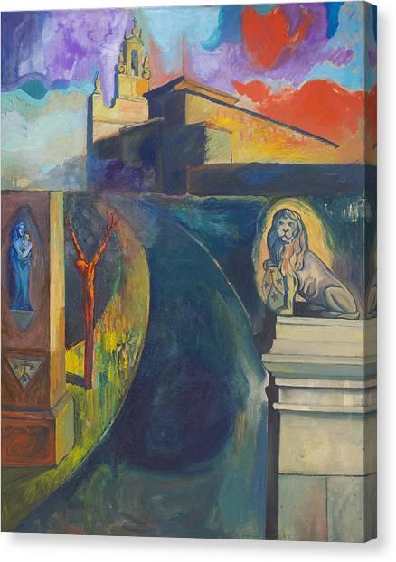 The Virgin And The Lion Canvas Print by Fernando Alvarez