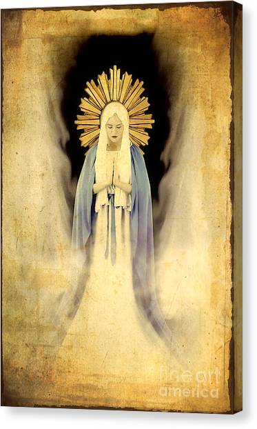 Immaculate Canvas Print - The Virgin Mary Gratia Plena by Cinema Photography