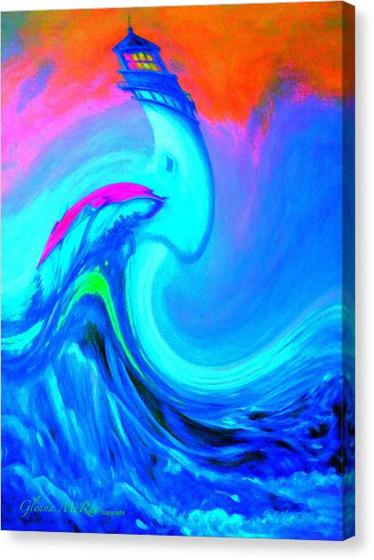 The Vision Of Blue Canvas Print