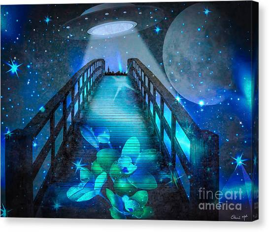 Canvas Print featuring the digital art The Visit by Eleni Mac Synodinos