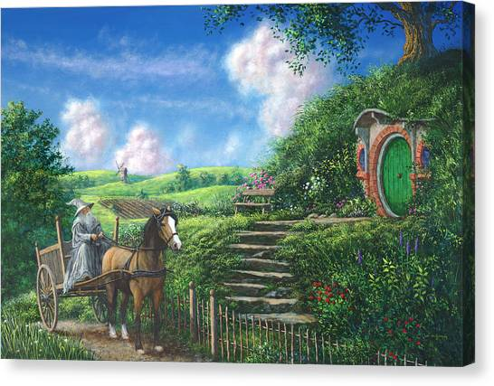 Carts Canvas Print - The Visit by Joe Mckinney