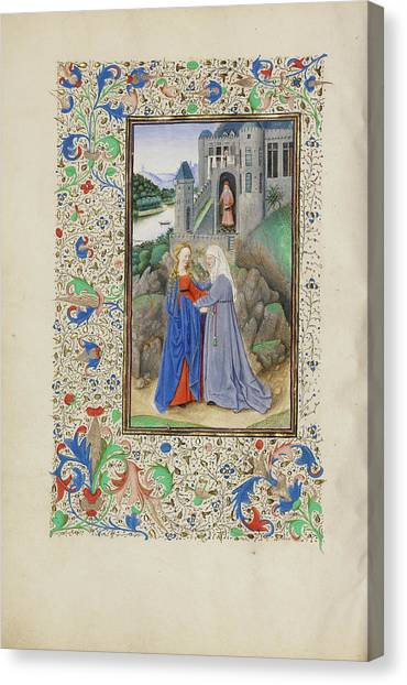 The Visitation Master Of The Llangattock Hours, Flemish Canvas Print by Litz Collection