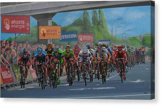 Crowd Canvas Print - The Vuelta by Paul Meijering