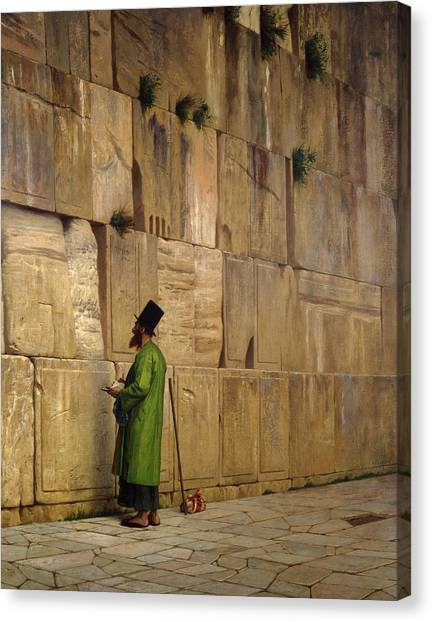 Judaism Canvas Print - The Wailing Wall, 1880 by Jean Leon Gerome