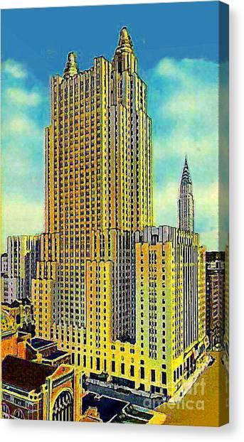 The Waldorf Astoria Hotel Canvas Print by Dwight Goss