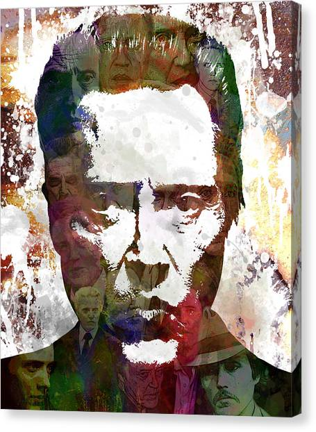 Andy Warhol Canvas Print - The Walken by Bobby Zeik