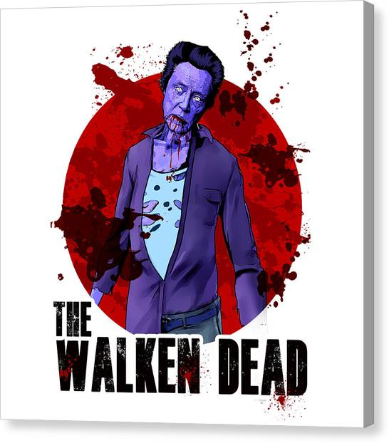 Tv Shows Canvas Print - The Walken Dead - The Walking Dead Parody by Paul Telling