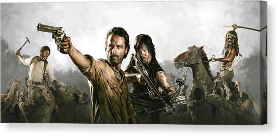 The Walking Dead Artwork 1 Canvas Print