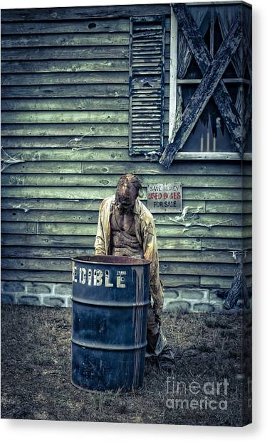 Haunted House Canvas Print - The Walking Dead by Edward Fielding
