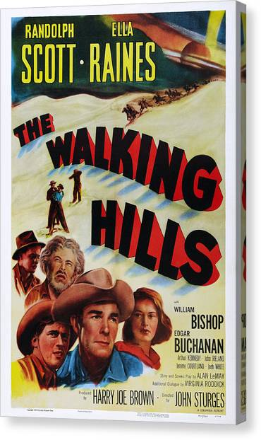 Bishop Hill Canvas Print - The Walking Hills, Us Poster, From Left by Everett