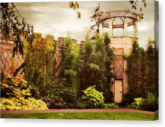 Summer Canvas Print - The Walled Garden 2 by Jessica Jenney