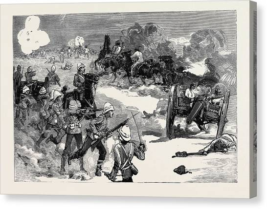 Royal Marines Canvas Print - The War In Egypt The Battle Of Kassassin by Egyptian School