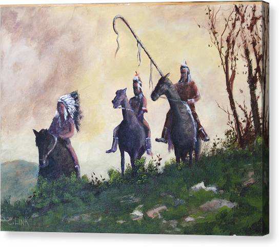 The War Party Canvas Print
