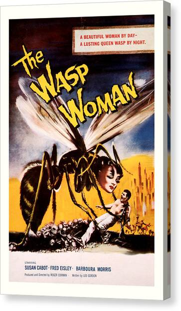 The Wasp Woman 1959 Canvas Print