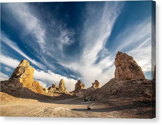 Mojave Desert Canvas Print - The Watch Towers by Peter Tellone