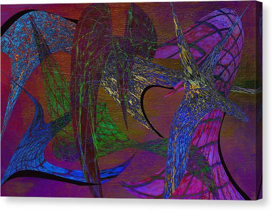 Frank Stella Canvas Print - The Water Flock by Linda Dunn
