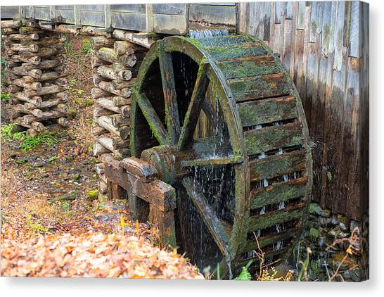 The Water Wheel At Cable Grist Mill Canvas Print