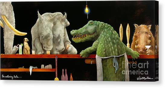 The Watering Hole... Canvas Print