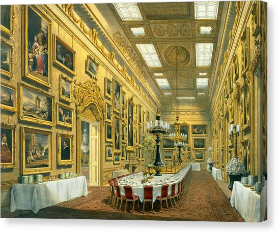Hyde Park Canvas Print - The Waterloo Gallery, Apsley House by Richard Ford