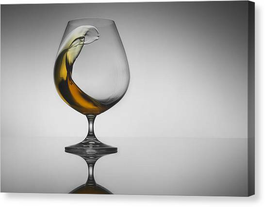 Whiskey Canvas Print - The Wave by Jackson Carvalho