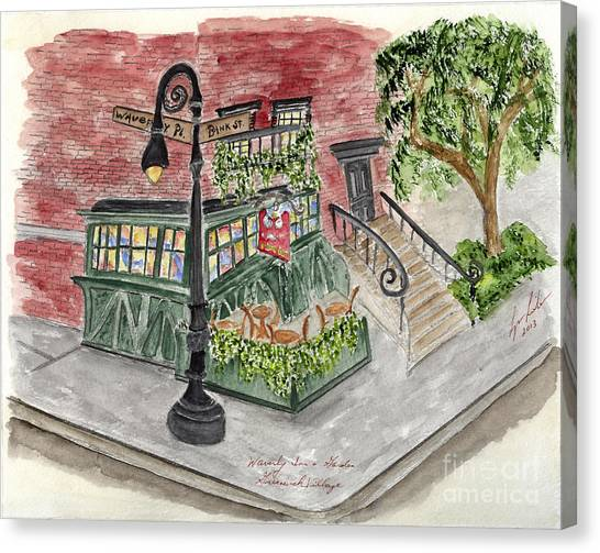 The Waverly Inn And Garden Canvas Print
