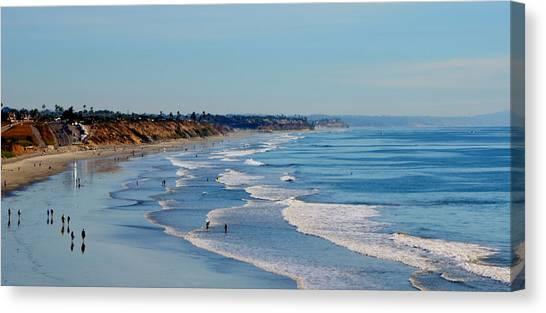 The Waves In Carlsbad Beach California  Canvas Print