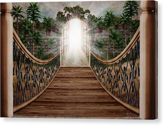 Beam Canvas Print - The Way And The Gate by April Moen