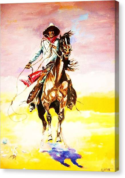 The Way Of The Vaquero Canvas Print