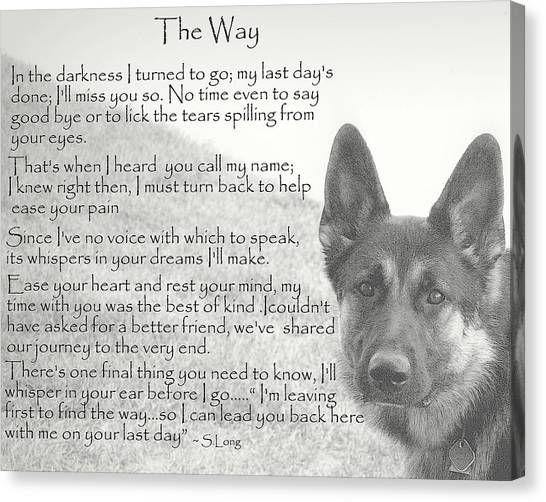 German Shepherds Canvas Print - The Way by Sue Long