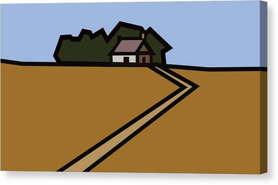 The Way To Sarah's House Canvas Print by Kenneth North