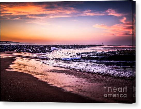 The Wedge Newport Beach California Picture Canvas Print by Paul Velgos