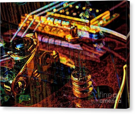 The Whammy Digital Guitar Art By Steven Langston Canvas Print by Steven Lebron Langston
