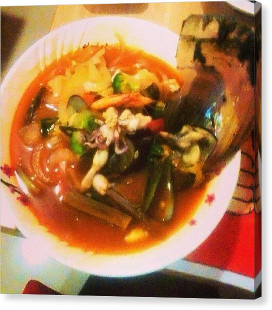 Squids Canvas Print - The What-so-called #lunchie. #jjampong by Silvia S