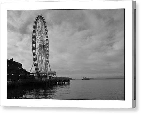 The Wheel And The Ferry Canvas Print