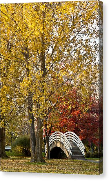 The White Bridge Canvas Print