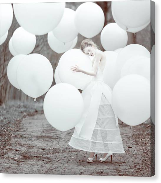 Balloons Canvas Print - The White Dream by Anka Zhuravleva