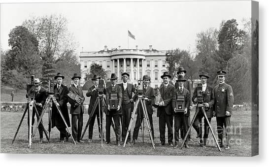White House Canvas Print - The White House Photographers by Jon Neidert