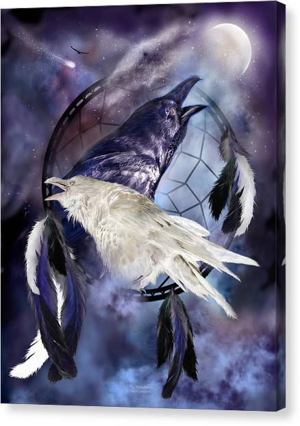 Catchers Canvas Print - The White Raven by Carol Cavalaris